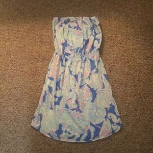 Lilly Pulitzer Strapless Beach Cover Up